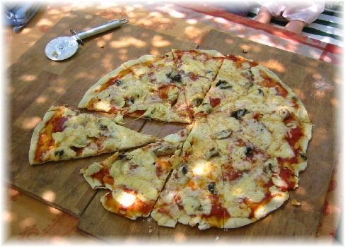 Horno para pizza a la piedra
